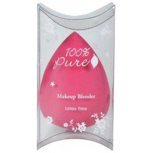 100% Pure Makeup Blender er en lateksfri, luktfri og ikke-allergifremkallende sminkemikser som gir deg en feilfri, naturlig duggvåt finish.