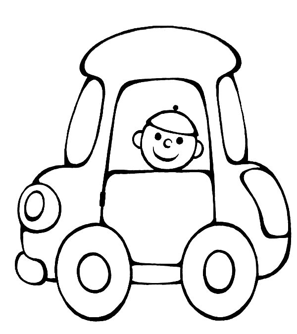 Vehicle coloring pages for babies 7
