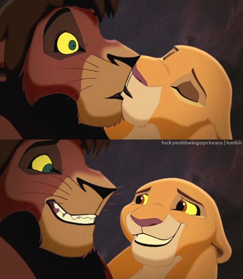 30 day Disney Challange #5 favrite kiss - Kiara and Kovu