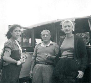 with Dora Maar and Lee Miller, Mougins 1937