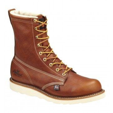 "Thorogood Men's 8"" Plain Toe Wedge - Non-Safety Toe - 814-4364 Profile"