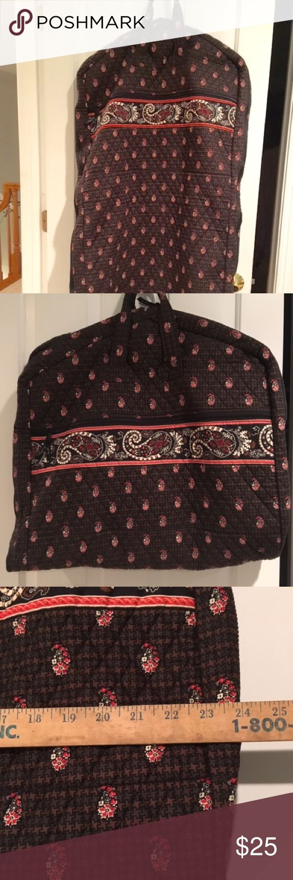 "Stylish Vera Bradley Garment Bag This is a super cool and stylish garment bag or travel bag from Vera Bradley. Very decently sized, 47"" x 24,"" this can also be bundled smaller and hung as seen in photo 2. Travel comfortably and in style with this awesome bag. Accepting offers. Thank you. Vera Bradley Bags Travel Bags"