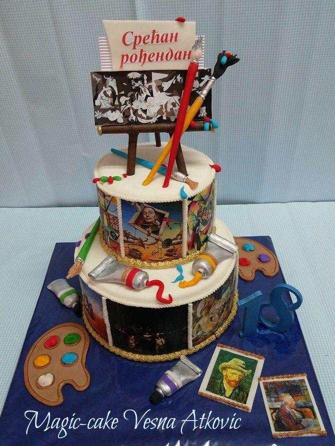 Cake for painters 14 best Elegant Cakes