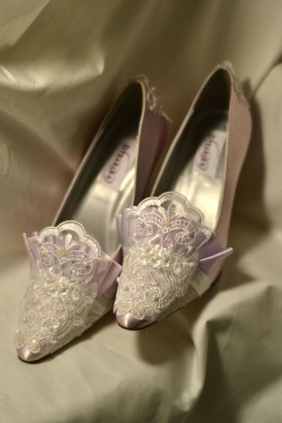 Princess Marie Antoinette Orchid Lace Heels by OxfordIsHeaven