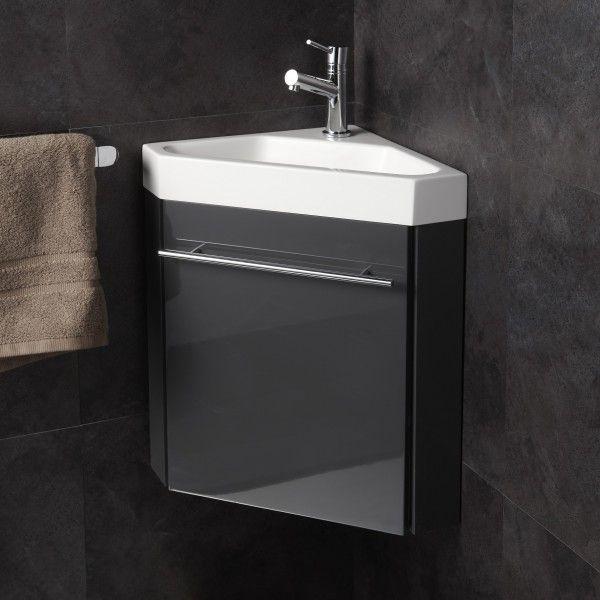 Lave Mains Dangle Complet Pour Wc Avec Meuble Couleur Gris