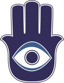 La khamsa, désignant le chiffre cinq, est un symbole utilisé par les habitants du Moyen-Orient et d'Afrique du Nord pour se protéger contre le mauvais œil. Certains associent le signe des cinq doigts aux cinq piliers de l'islam pour les sunnites. Cette symbolique a sans doute évolué dans le temps au regard des preuves archéologiques suggérant que la khamsa a précédé la naissance des deux religions. En effet, ce symbole existait dans la religion punique où il était associé à la déesse Tanit.