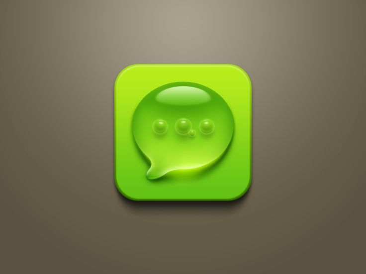 Droplet + air bubbles SMS icon