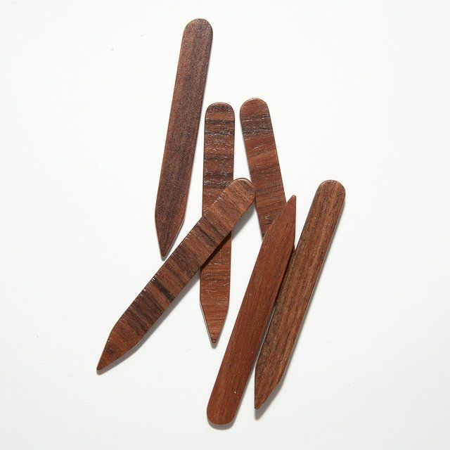 Rosewood Wood Collar Stays #Collar, #HandCrafted, #Wood