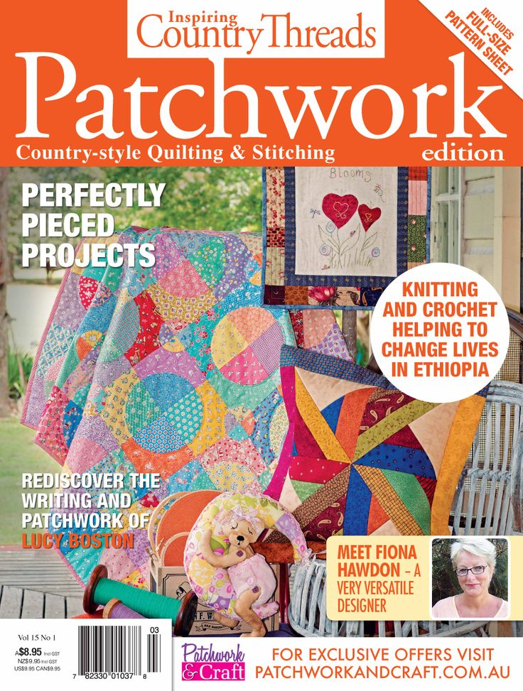 Inspiring Country Threads Magazine - Volume 15 No. 1. Filled with exciting new patterns, heart-warming stories and a range of projects, the avid stitcher cannot be without it!
