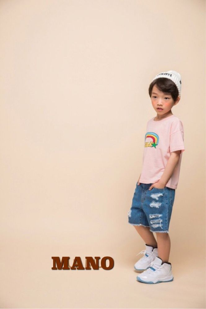 Kids Boys Girls Pink Rainbow Smile Printing Top T-shirt 5T #Unbranded