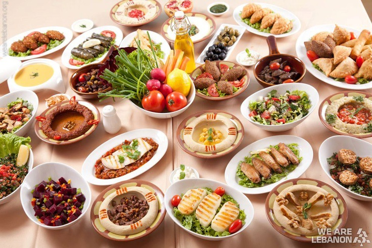 Palestinian and middle eastern mazzeh table palestinian for Authentic lebanese cuisine