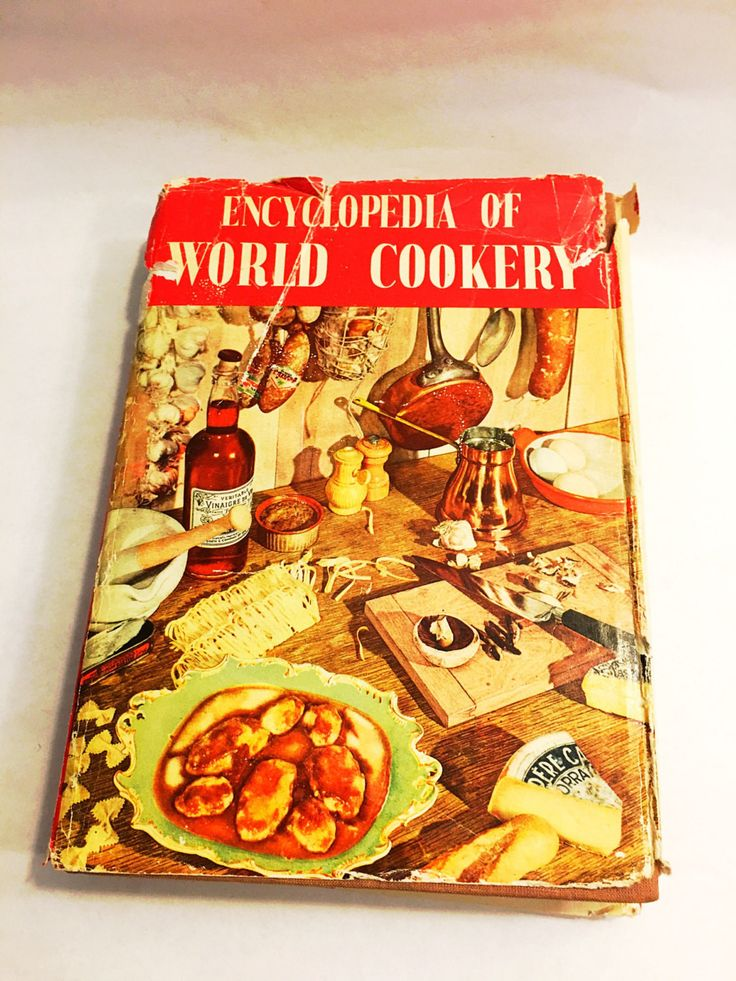 Encyclopedia of World Cookery by Elizabeth Campbell. FIRST EDITION Spring books, London, 1958. Retro Cookbook. Cook Book.
