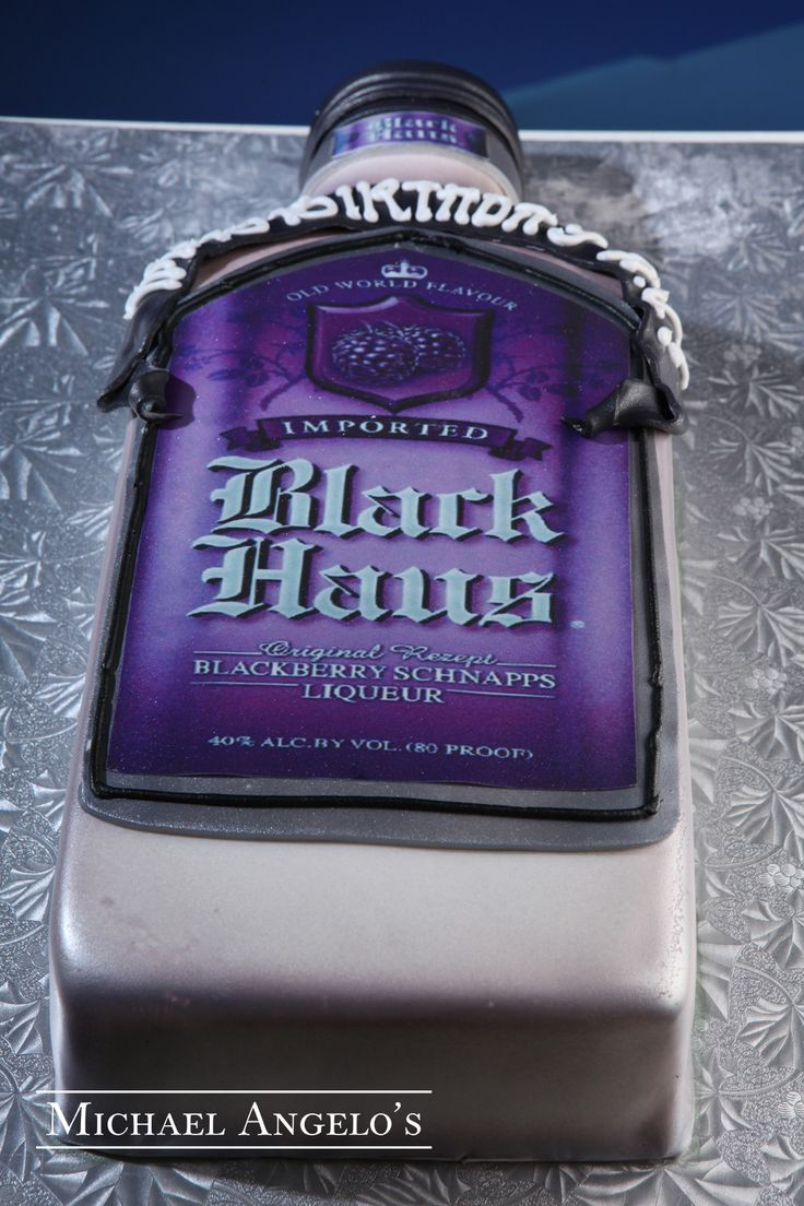 Black Haus Schnapps 22food This Liquor Bottle Cake Is