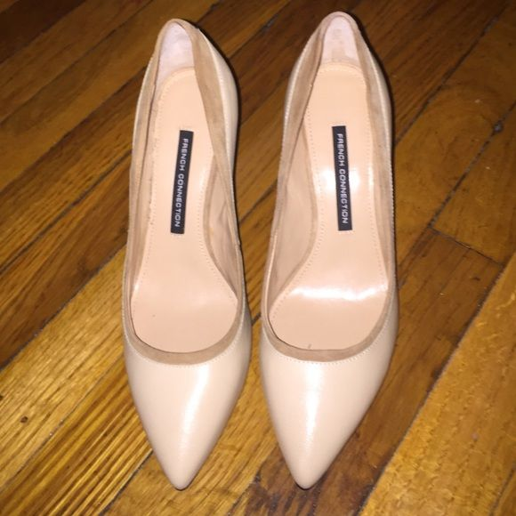 French connection tan heels - sz 9.5 Timeless tan heels that have only been worn once. Listed as a size 9.5, but fit more like an 8.5. French Connection Shoes Heels