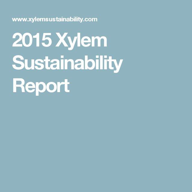 2015 Xylem Sustainability Report
