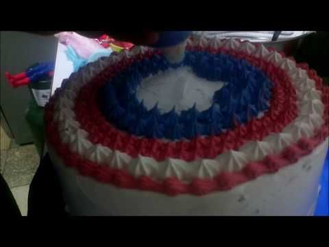 "Cómo hacer con merengue Escudo del Capitán América"" (Nivel principiantes) - YouTube"