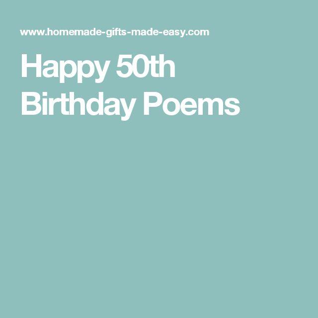 Happy 50th Birthday Poems: Best 25+ Birthday Poems Ideas On Pinterest