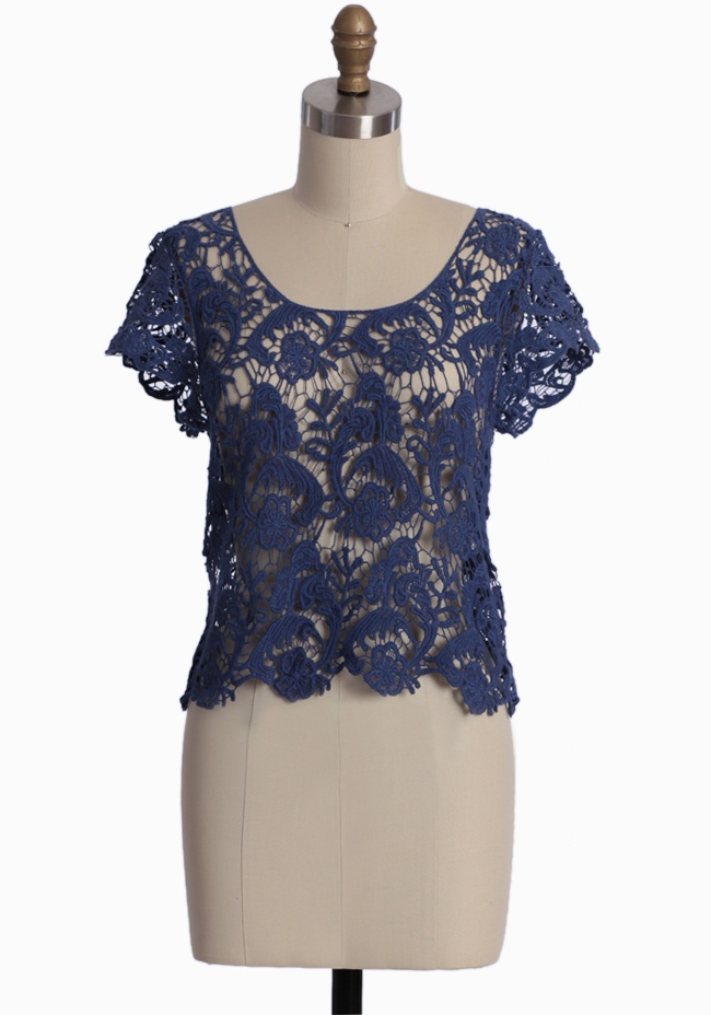lace top from ruche: Black Lace, Sophisticated Lace, Lace Tops, Style, Clothing, Navy Lace, Tops 34 99, Blue Lace, Modern Vintage