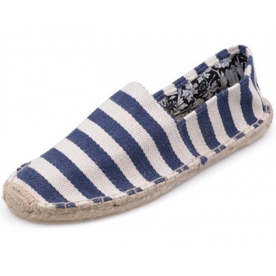 White Navy Toms Mens Stripe Shoes - $36.99