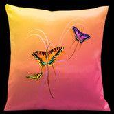 Found it at Wayfair - Butterflies Synthetic Throw Pillow