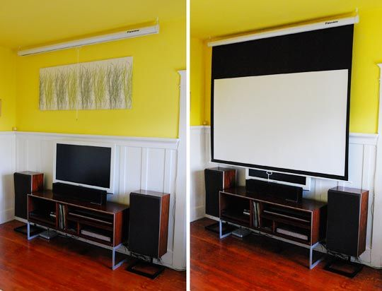 """Stretching It: Make Your Own 128"""" DIY Spandex Movie Screen 
