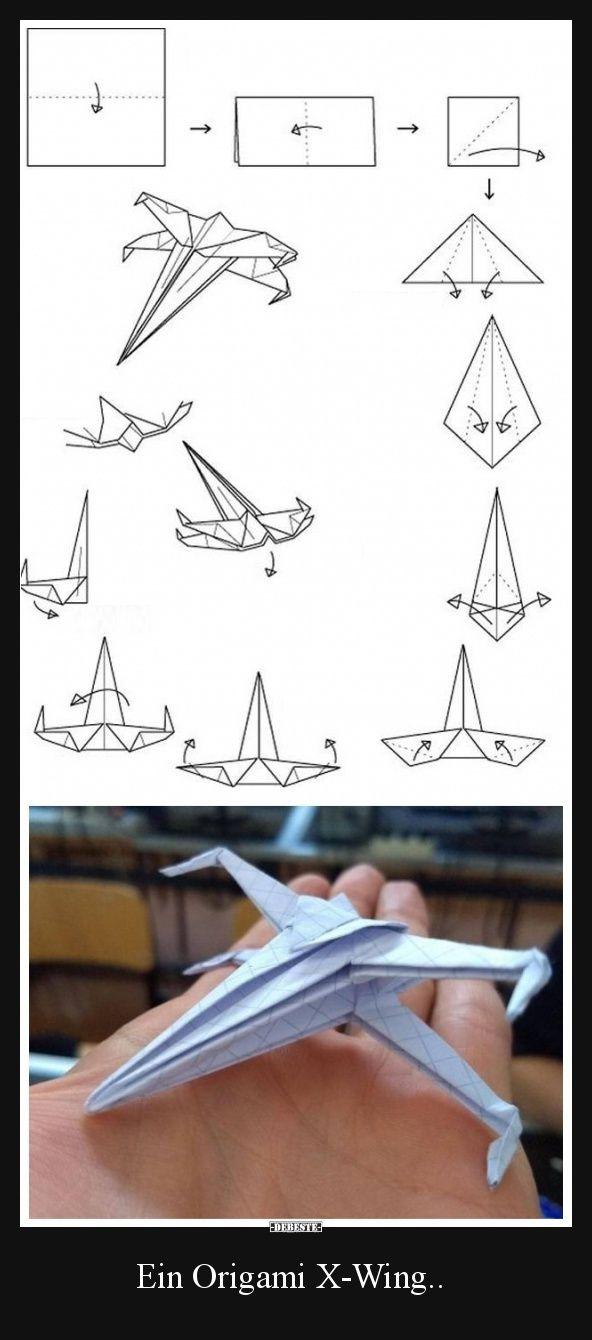Ein Origami X-Wing.. | Lustige Bilder, Sprüche, Witze, echt lustig
