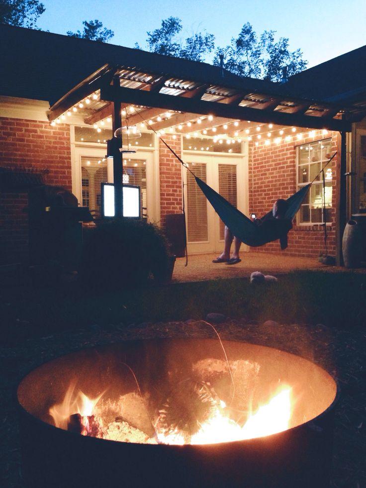 ENO hammock and a fire. I love fall.