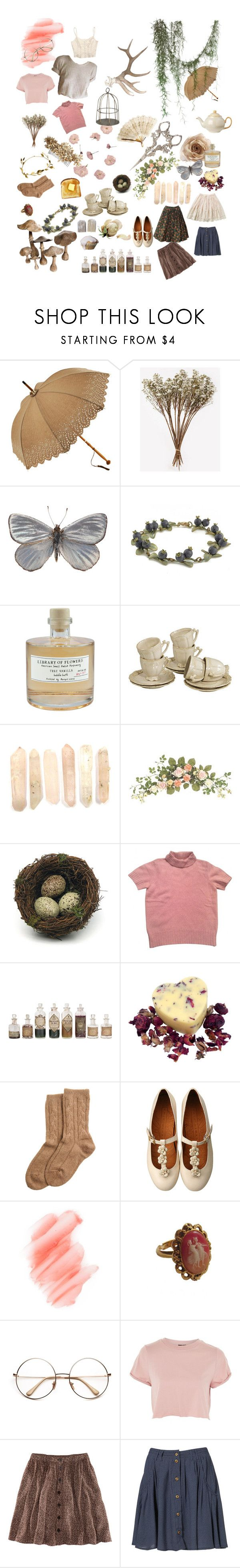 """ella avery 2"" by wrenmaverique ❤ liked on Polyvore featuring Library of Flowers, Vera Wang, Antler, Kenzo, Bamford, Chie Mihara, Birchrose + Co., Cameo, Topshop and H&M"