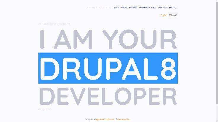Homepage of my personal website. Focusing on Drupal (what else? :-)