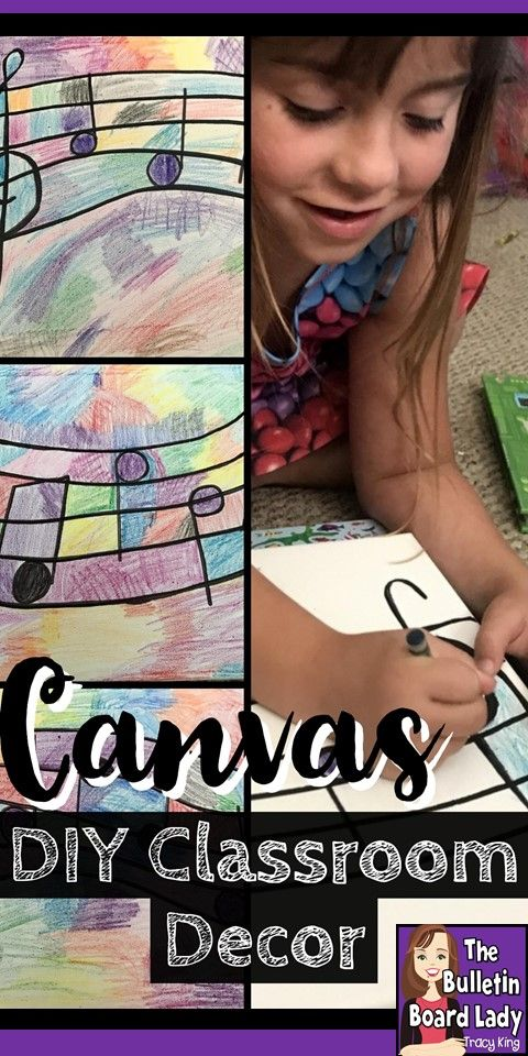 Learn how to create your own canvas art for your home or classroom with supplies you already have!  Works with any theme and doesn't take long to complete.