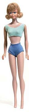 Zo'n Midgepop met blauwe bikini had mijn zus ook.