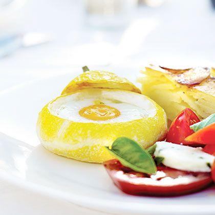 Pattypan Squash with Eggs