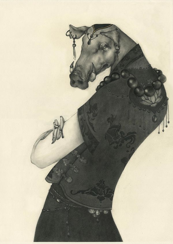 Macabre and Beautifully Grotesque #ChineseZodiac #Illustration http://wp.me/p4vAYx-dKd