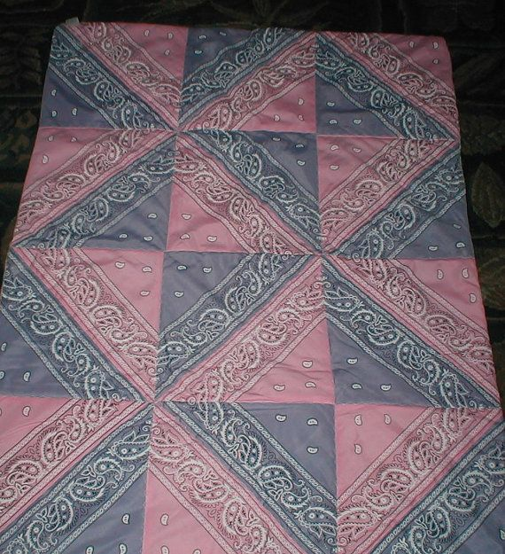 HandMade Baby Quilt  Western Style  Pink And Purple by sasharaveen, $16.95