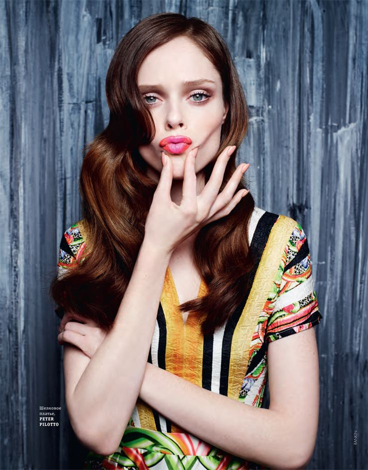 Coco Rocha Models Spring Trends for Elle Ukraine's March 2011 Cover Shoot by Rankin.