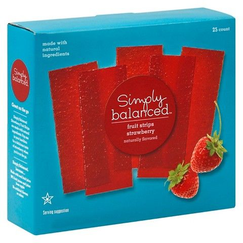 Strawberry Fruit Strips 25ct   Simply Balanced™