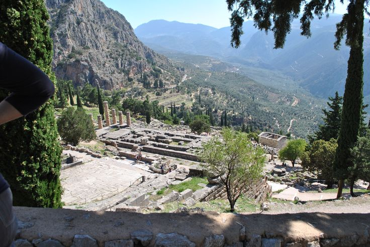 A panoramic view for the Temple of Apollon in Delphi. #greece #ancientgreece #archaeology