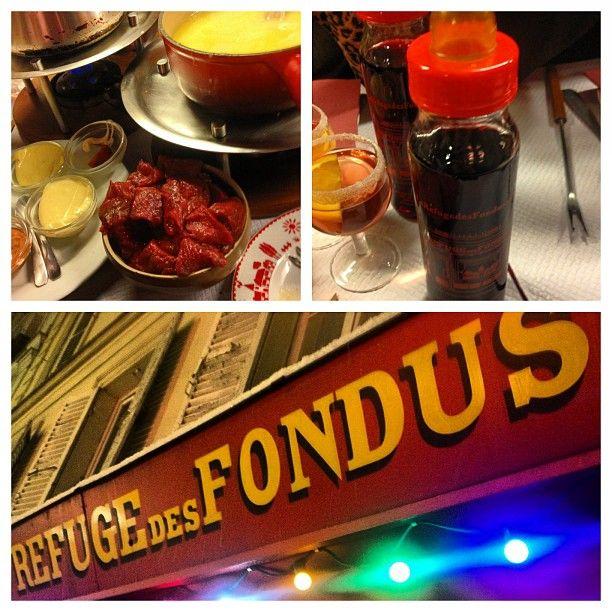 Fun little fondue restaurant in Montmartre, where the ...