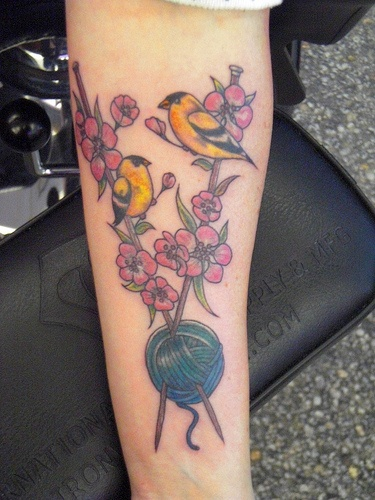 Knitting Needle Tattoo : Best images about knitting crochet tattoos on
