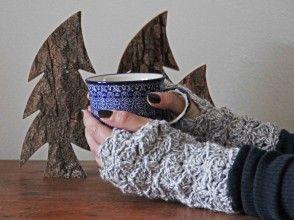 free crochet pattern Chunky Fingerless Gloves