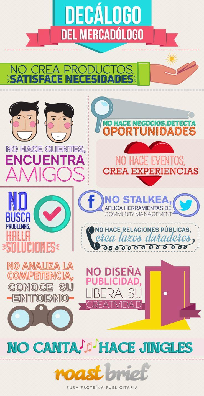 Decálogo del profesional de Marketing #infografia #infographic #marketing
