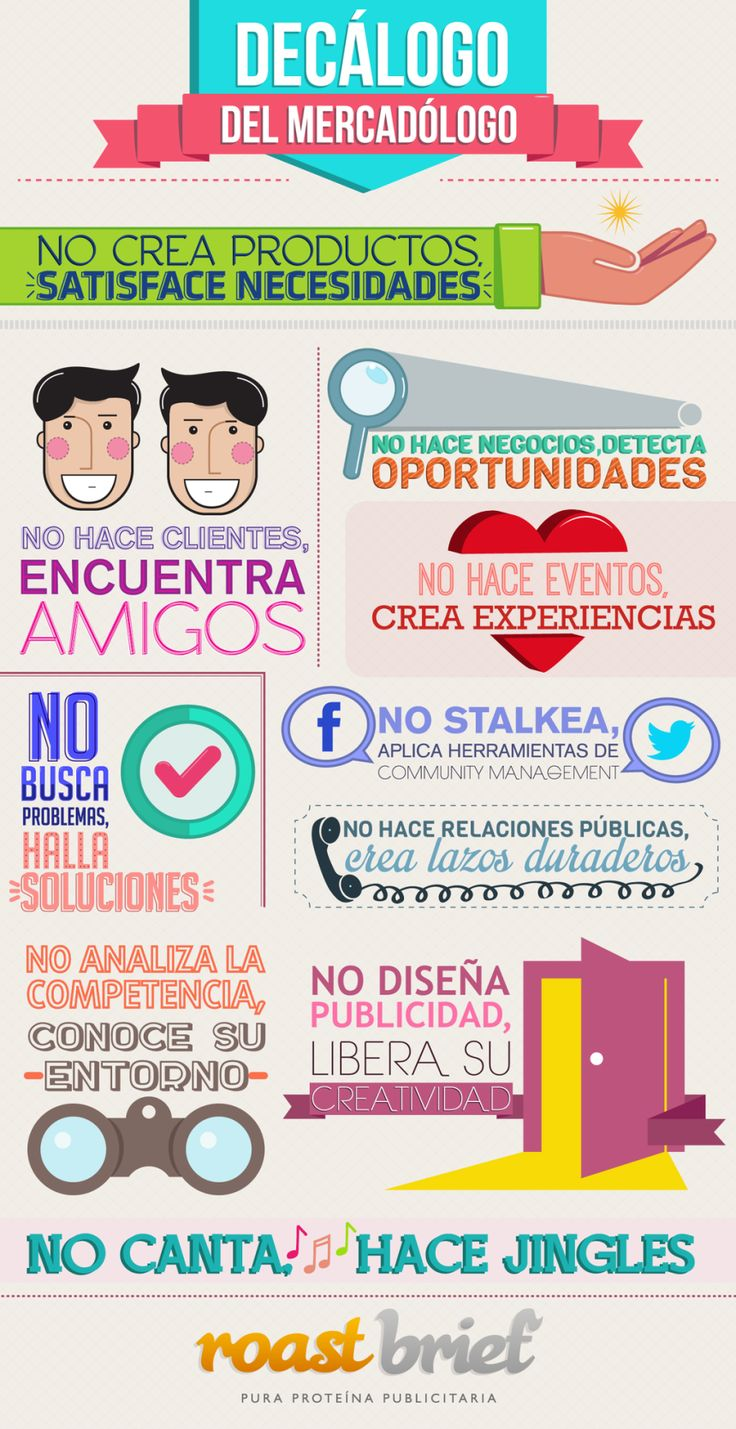 Decálogo del profesional de Marketing #infografia #infographic #marketing