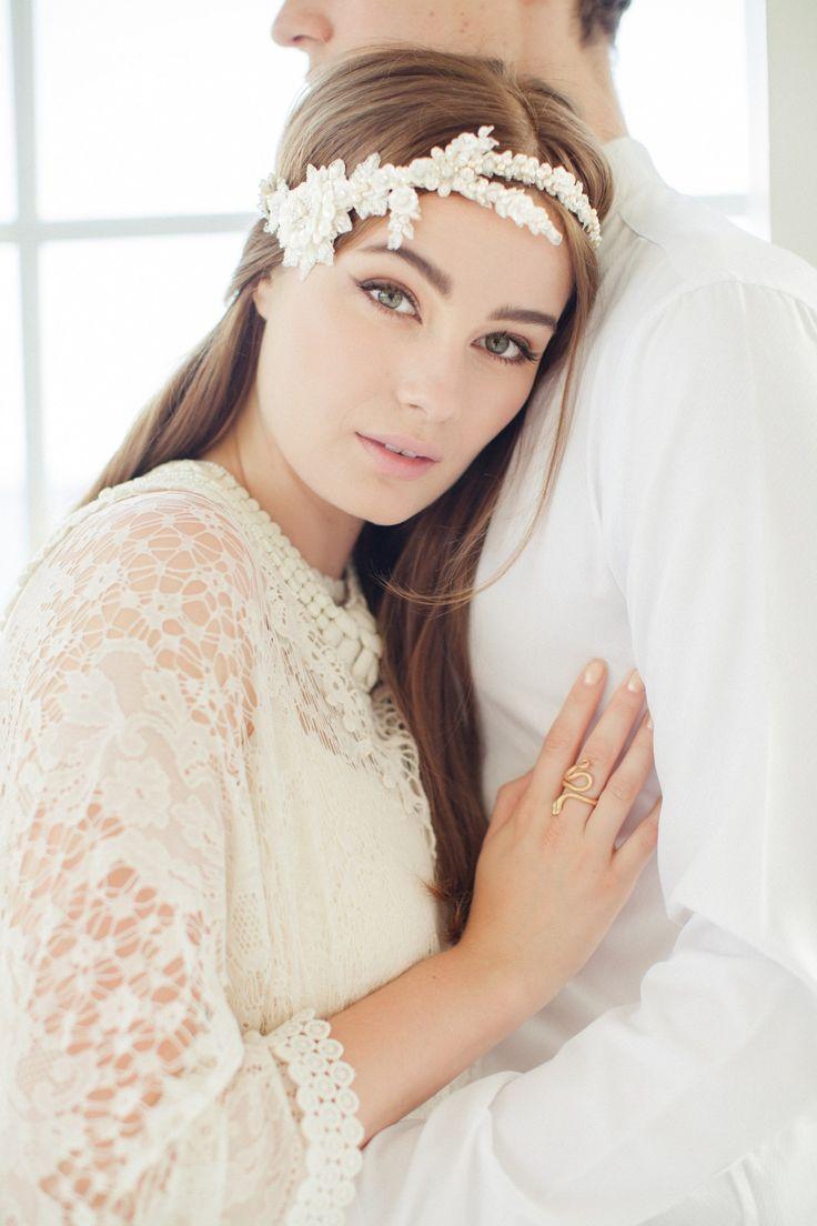 Swoon over jannie baltzer s wild nature bridal headpiece collection - Jannie Baltzer Rena Halo