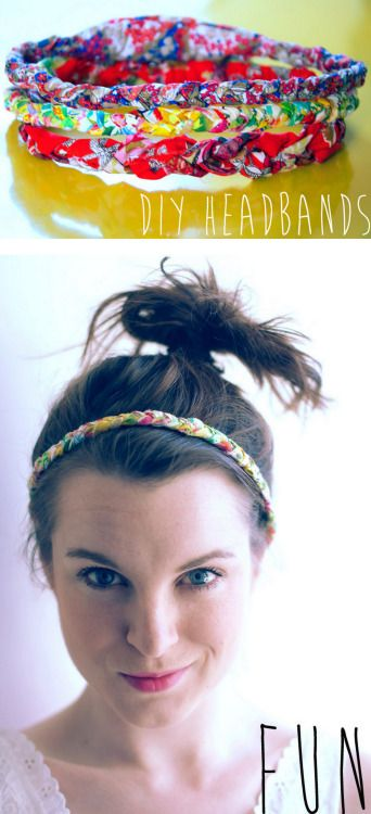 DIY Easy Fabric Braided Elastic Headband Tutorial from Clones N Clowns here. For more DIY headbands go here and for more headpieces go here.