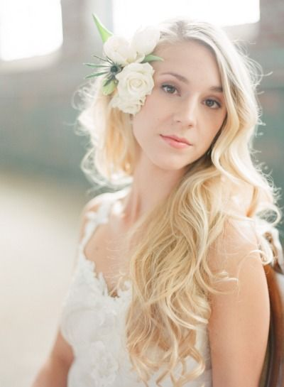 Soft waves at this pretty bridal warehouse shoot: http://www.stylemepretty.com/2014/06/06/bridal-warehouse-shoot-wiup/ | Photography: http://chrisishamphotography.com/blog/ #weddings #hair #beauty