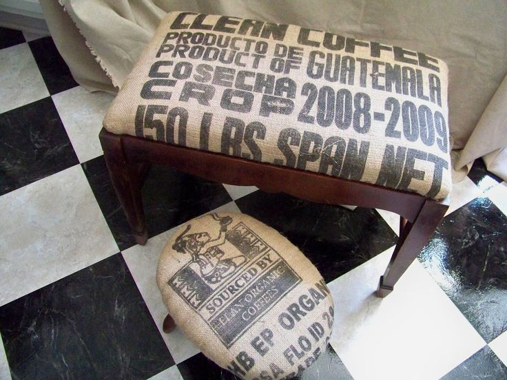 200 best images about coffee sack ideas on pinterest Burlap bag decorating ideas