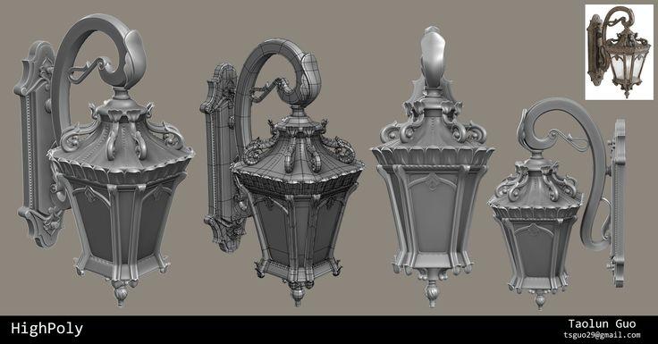 ArtStation - Victorian Wall Light, Taolun Guo