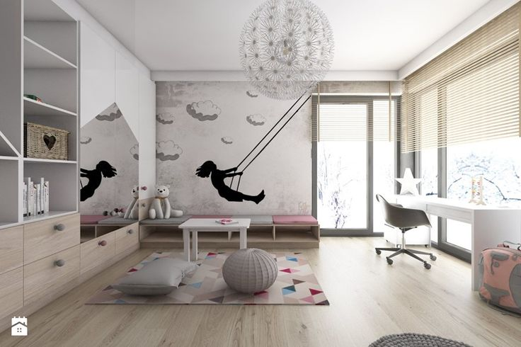 Pokoje dziecięce - Duży pokój dziecka dla dziewczynki dla ucznia dla malucha, styl nowoczesny - zdjęcie od BAGUA Pracownia Architektury Wnętrz
