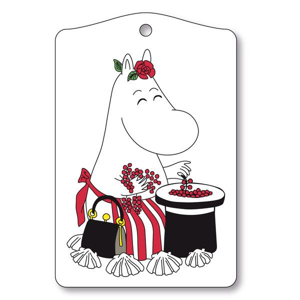 White cutting board featuring the lovely Moominmamma. Make this beautiful cutting board a part of your cooking moments. The motif is taken from Tove Jansson's o