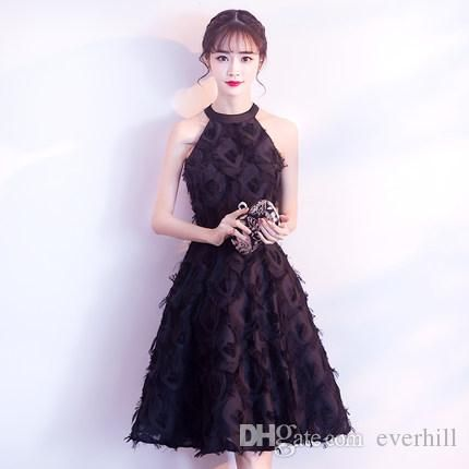 Cocktail dress 2018 black and white image